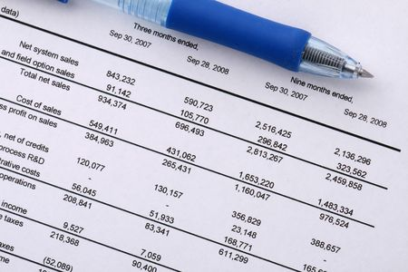 financial analysis, income chart, document, office report