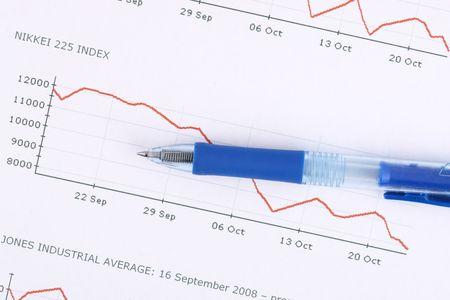 financial crysis, stock market bessa, crash, index Stock Photo