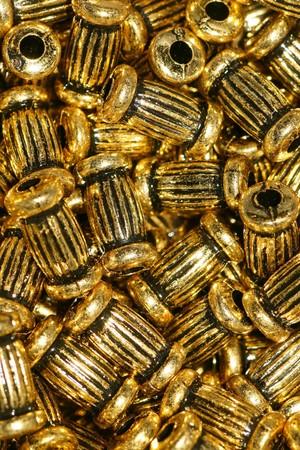 golden earrings in the box, luxury, gold photo
