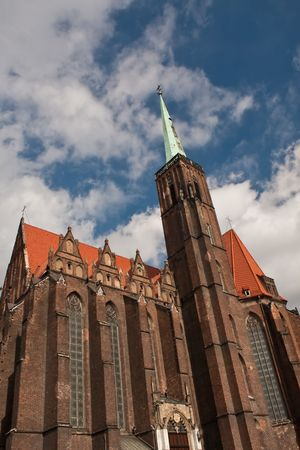 Ostrow Tumski in Wroclaw, famous landmark, old