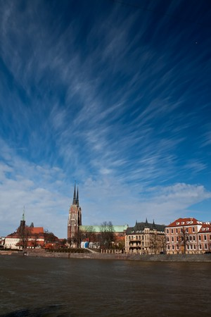 Ostrow Tumski, Wroclaw, Poland, old architecture, landmark
