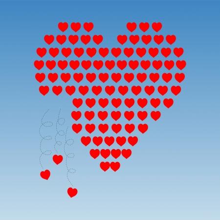 abandono: Coraz�n de los corazones peque�os que se caen
