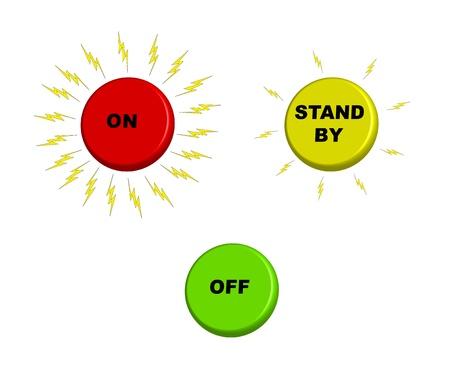 consumo energia: On  Stand-by  off pulsanti con un consumo energetico