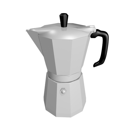 Moka - coffee pot for italian coffee isolated on white background photo