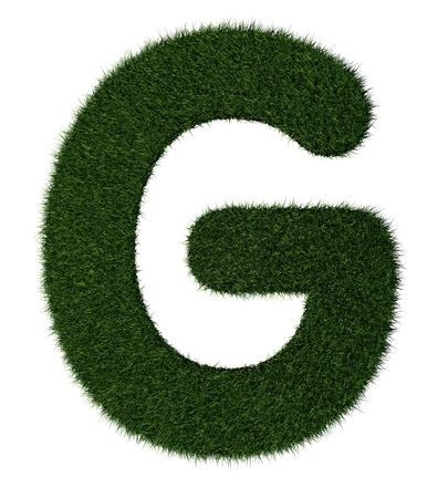grass blades: Letter G made with blades of grass