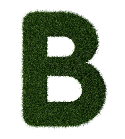 Letter B made with blades of grass Stock Photo