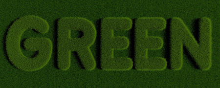 Word GREEN written with grass