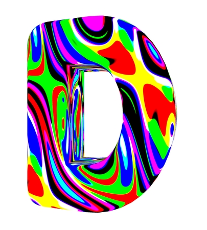 3d letter colored with bright colors Stock Photo