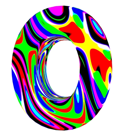 3d letter colored with bright colors Фото со стока