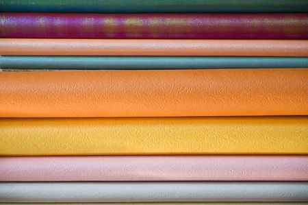 rubber sheet: rolls of paper