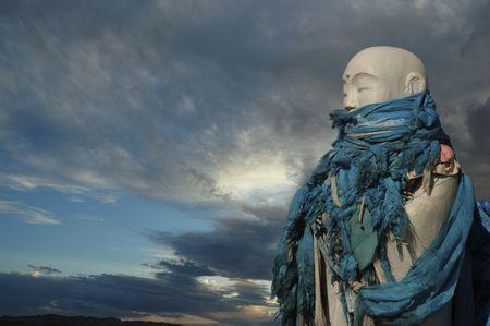 believes: Statue of Buddha, Gobi Desert, Mongolia