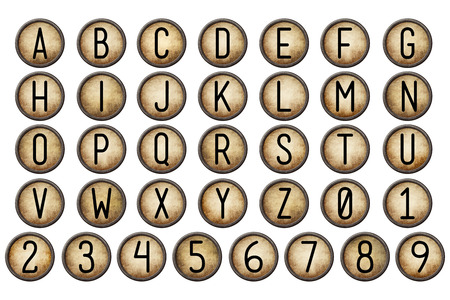 typewriter key: Backspace Alphabet Collection
