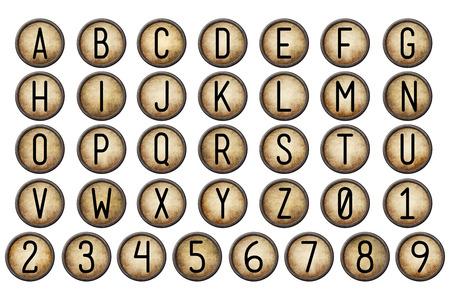 maquina de escribir: Retroceso del alfabeto Colección
