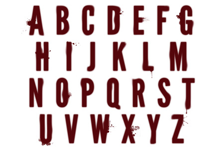 dexter: Bloodstain Alphabet Collection Stock Photo