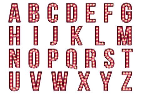 Burlesque Alphabet Collection Standard-Bild