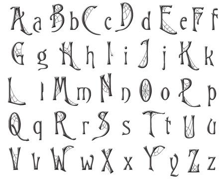 Cobweb Alphabet Collection