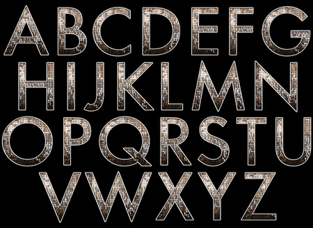 Diva Alphabet Sammlung Standard-Bild - 40042849