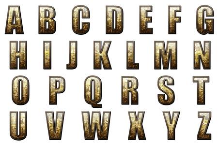 帝国アルファベットコレクション 写真素材