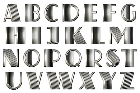 Gatsby Art Deco Alphabet Collection