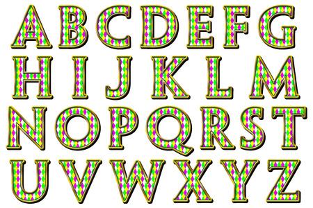arlecchino: Mardi Gras Arlecchino Alphabet Collection Archivio Fotografico