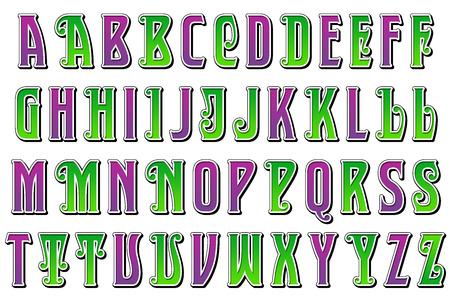 jester: Mardi Gras Jester Alphabet Collection