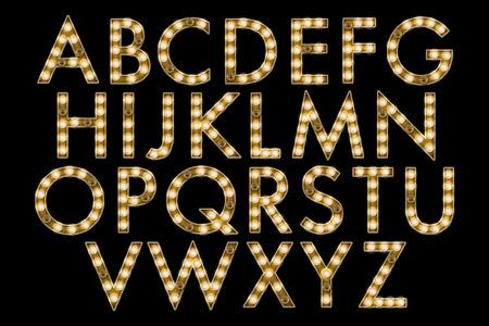 czcionki: Marquee Światła Alfabet Collection