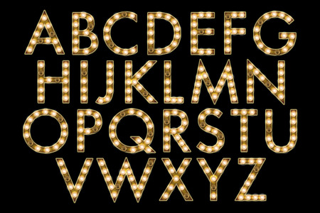 Marquee Lights Alphabet Collection Stock fotó - 40042163