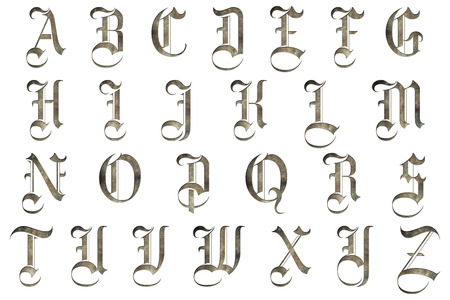 old english letters: Medieval Gothic Alphabet Collection