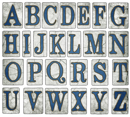 New Orleans Street Tiles Alphabet Collection