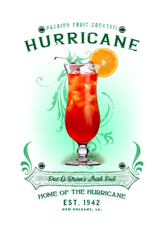 NOLA Collection Hurricane Cocktail 版權商用圖片