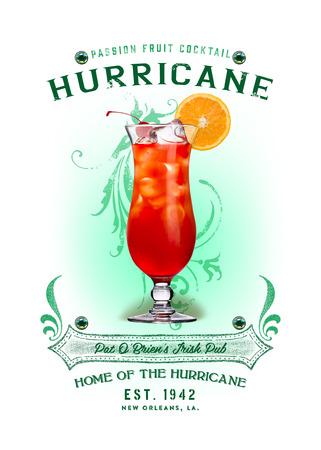 NOLA Collection Hurricane Cocktail Standard-Bild