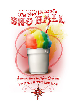 NOLA Collection Snowball Ice Treat 版權商用圖片 - 41849963