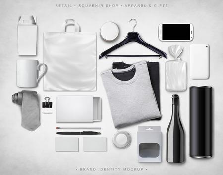 ブランドのアイデンティティのモックアップ
