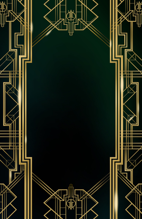 Gatsby Art Deco Background Standard-Bild