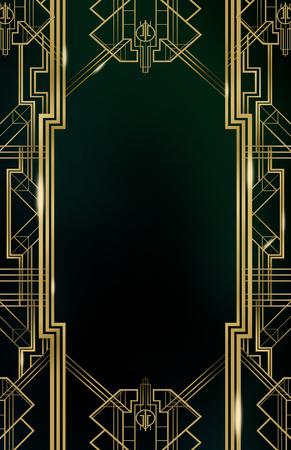 Gatsby Art Deco Hintergrund Standard-Bild - 54283899