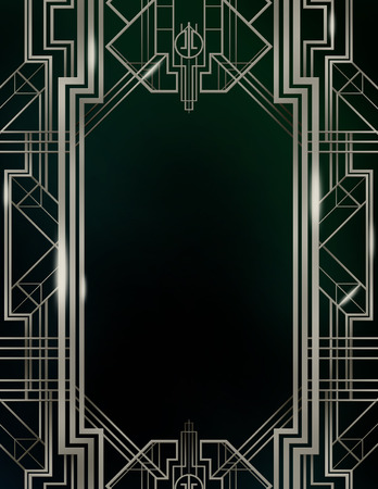 Gatsby Art Deco Background Foto de archivo