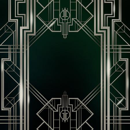 style: Gatsby Art Deco Background Stock Photo