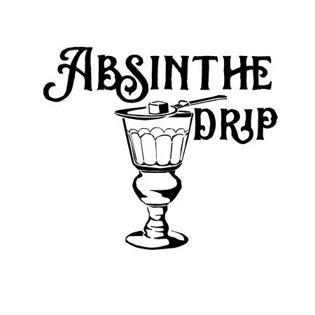 Klassische Cocktails von New Orleans Sketch Illustration Standard-Bild - 70749194