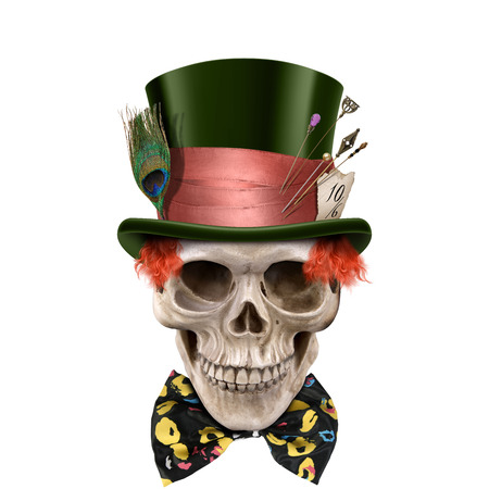 chamber: Chamber of Skulls Collection Esoteric Halloween Digital Artwork Stock Photo