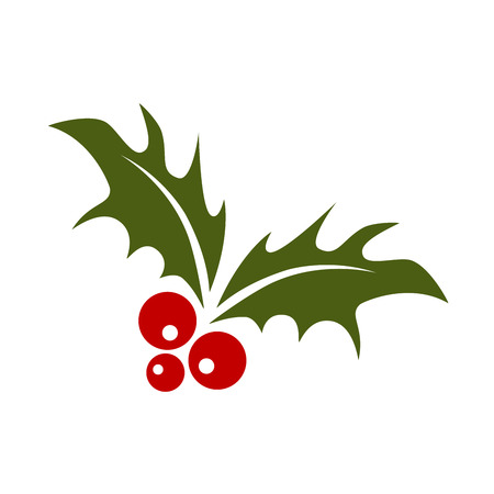 Mistletoe Holly Christmas Sprig Illustration