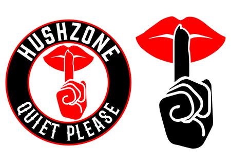 Hush Zone Quiet Please Icon Set