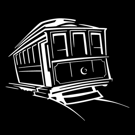 New Orleans Streetcar Icon Stock Photo - 69793136
