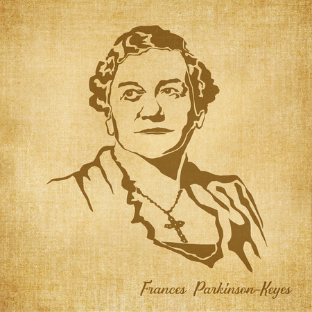 a literary sketch: Historic New Orleans Author Sketch Illustration France Parkinson Keyes Stock Photo