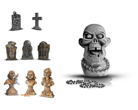 headstones: Halloween Stock Image Tomb Headstones