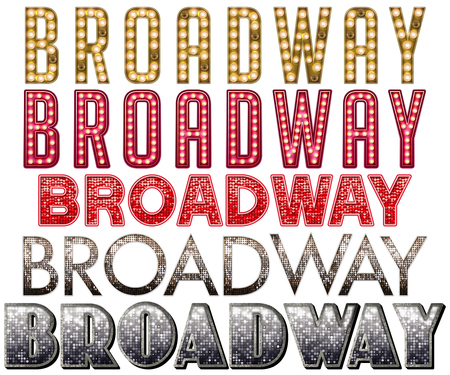 WordArt Sammlung Broadway Marquee Standard-Bild - 70749441