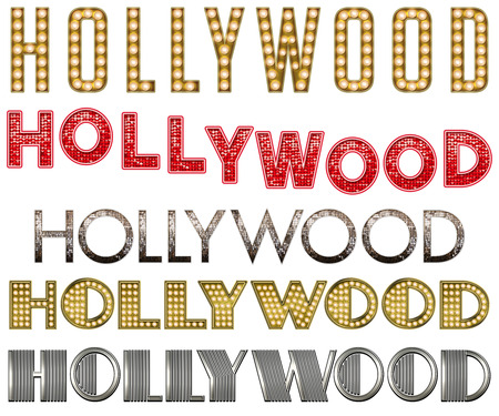 decadence: WordArt Collection Hollywood Marquee