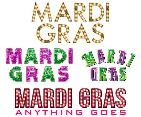 WordArt Collection Mardi Gras Marquee
