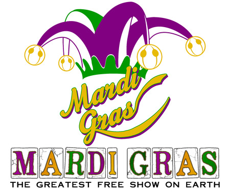WordArt Collection Mardi Gras Jester Slogan 版權商用圖片