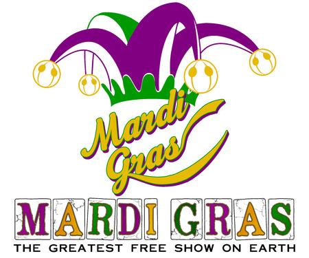 WordArt Collection Mardi Gras Jester Slogan Standard-Bild