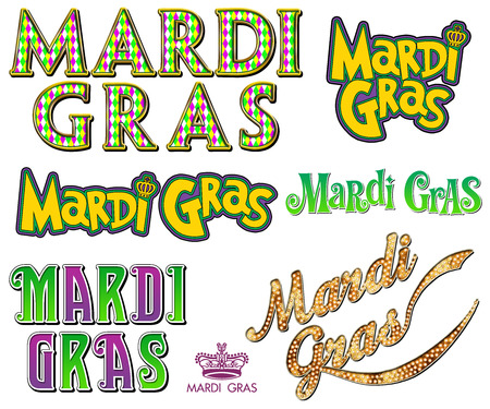 WordArt Collection Mardi Gras New Orleans
